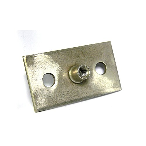 1 Graphskill Rectangular Base Plate for 1206 Series Pipe Clips T304 Stainless Steel Pack Size M8