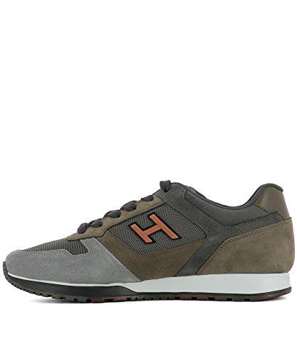 Hogan Sneakers Uomo HXM3210Y861II0961G Tessuto Verde
