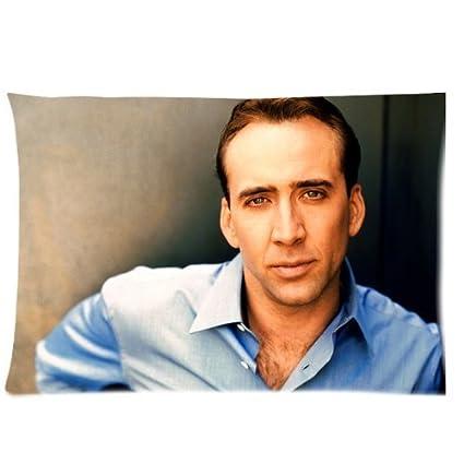 Custom fashionable Nicolas Cage tamaño Queen Rectángulo ...