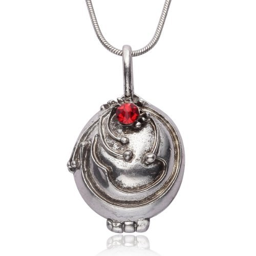 The Vampire Diaries Elena Gilbert Opening Vervain Locket Pendant Necklace -