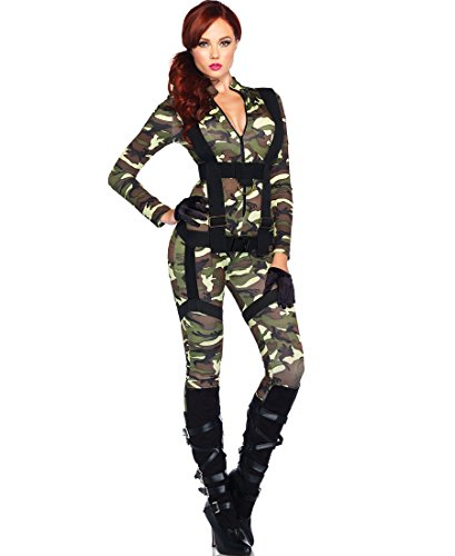 [Leg Avenue Pretty Paratrooper Women's Halloween CostumeWomen's Halloween Costume - Camo - X-Large] (Adult Pretty Paratrooper Costumes)