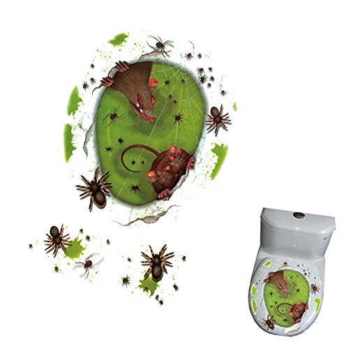 Halloween Toilet Seat Sticker Decals Halloween Bathroom Décor