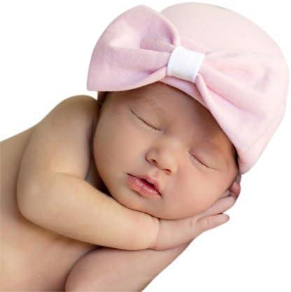 Melondipity Baby Pink Sparkles Newborn Girl Hospital Hat