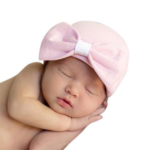 ffc0e333b507 Amazon.com  Melondipity Girls Organic Pink Big Bow Newborn Hospital ...