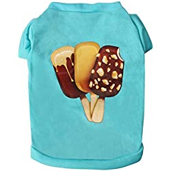 uxcell Dog T Shirts Cotton Costume Cat Pet Sweatshirt Tops Clothing Vest Puppy Spring/Summer/Fall Cool Clothes Apparel Outfits, 9, XS