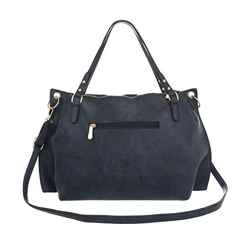 Bleu Pour Foncé Cabas Femme design Ital wqxAaIUa