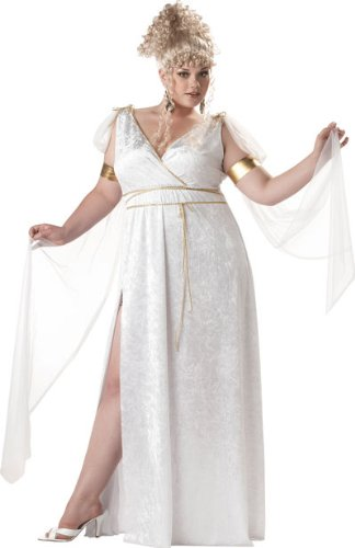 California Costumes Women's Athenian Goddess Costume, White,P (16-22) - California Costumes Women's Athenian Goddess Costume