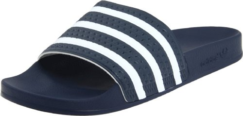adidas Adilette, Men's Beach & Pool Shoes Noir/Blanc/Bleu