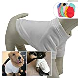 Lovelonglong 2019 Dog Pullover Sweatshirt Autumn Winter Cold Weather Dog T-Shirts for Small Medium Large Size Dogs Miniature Schnauzer Shih Tzu Clothes Off-White L