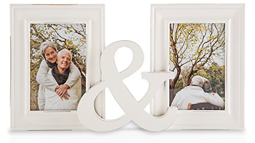 Two Hearts Picture Frame with 3 Collage Frame (White) - 1
