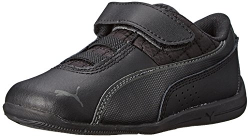 PUMA Drift Cat 6 Leather V Kids Sneaker (Toddler/Little Kid/Big Kid), Black/Black/Black, 8 M US Toddler ()