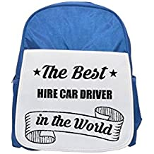 THE BEST Hire Car Driver IN THE WORLD printed kid's blue backpack, Cute backpacks, cute small backpacks, cute black backpack, cool black backpack, fashion backpacks, large fashion backpacks, black fas