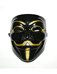 PVC Black V for Vendetta Mask+Gmask Keychain