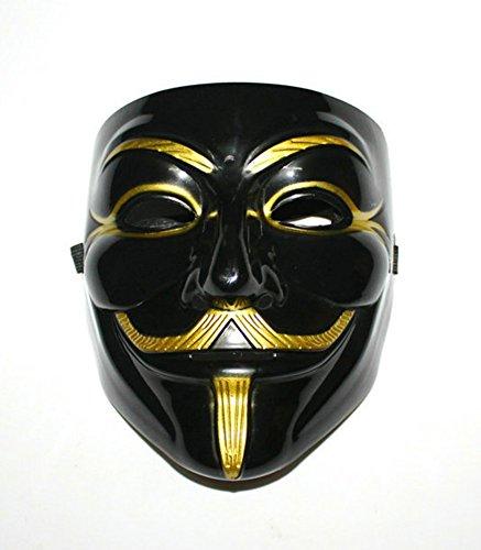 Gmasking PVC Black V for Vendetta Mask+Gmask Keychain (V For Vendetta Masks)