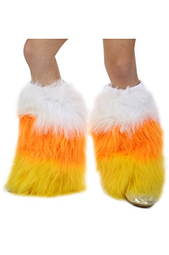 Princess Paradise Kids Candy Corn Leg Warmers, Large/X-Large, Multicolor
