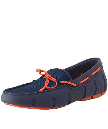 SWIMS Men's Braided Lace Loafers UK 10 Navy & Orange by SWIMS