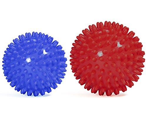 UPC 616320916824, Yes4All Spiky Exercise Ball / Spiky Massage Ball - Combo Blue Red - ²9K10Z