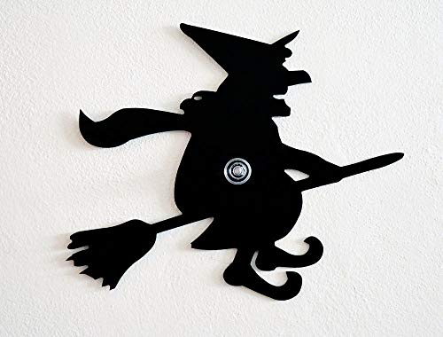 Halloween Witch Hazel Silhouette - Wall Hook/Coat Hook/Key Hanger ()