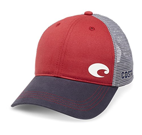 - Costa Del Mar Offset Logo XL Fit Trucker Hat, Red