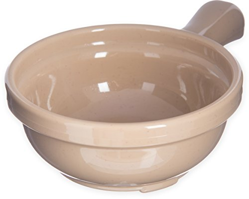 One Handled Bowl (Carlisle 700619 Plastic Handled Soup Bowl, 8 oz., Stone)