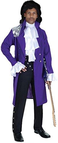 Underwraps 80's Pop Star Men's Costume: OS Purple