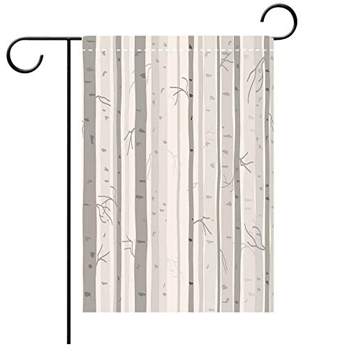ided Decorative Flags Grey Birch Trees in Autumn Fall Branches Forest with Soft Colors Modern Graphic Print Decor Decorative Ash Gray Best for Party Yard and Home Outdoor Decor ()