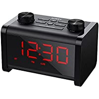 AUKEY Alarm Clock Radio, Bluetooth Speaker with FM Radio, Alarm Clock, and Adjustable Brightness LCD Display