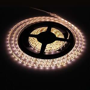 Ledtcx 5M 18W 300x3528SMD 2700-3200K Warm White Light LED Strip Light (DC 12V)