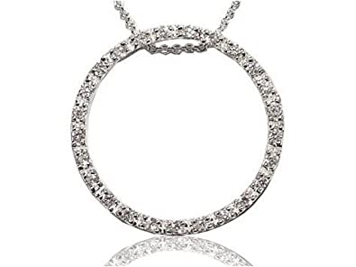 Lanfeny Twinkle Heart Gemstone Sterling Silver Necklace Simple Round, 16.5 1.2 Extender
