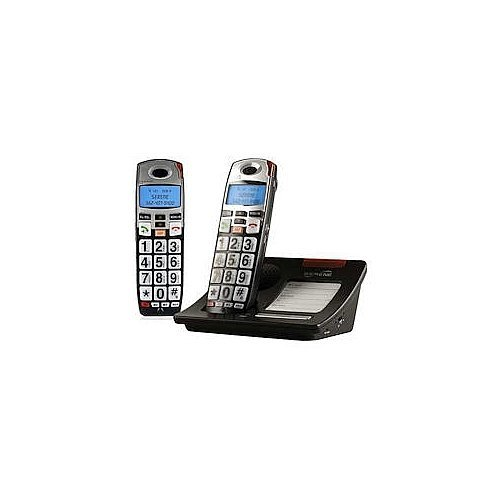 YBS Serene Innovations DECT 6.0 Expandable Amplified Phone with Caller ID and Keypad - 2 Handset