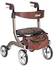 Drive Medical Nitro Dlx Euro Style Walker Rollator, Champagne, 1 Each 1 count