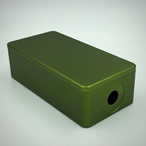 """BMG Mods """"1590g Tall"""" CNC Milled Anodized Aluminum 18650 Battery Enclosure: Olive Green (Satin Finish) by BMG Mods (Image #9)"""