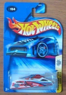 (Hot Wheels 2004 2/5 Scrapheads Shadow Jet II WHITE 154 1:64 Scale)