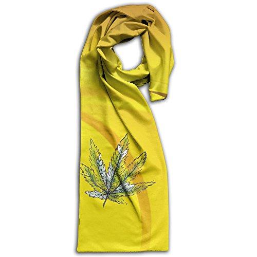 Winter Scarves Maple Leaves Lightweight Warm Towel Stylish Shawl Scarf Adult