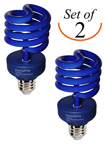 from usa sleeklighting 23 watt t2 blue light spiral cfl. Black Bedroom Furniture Sets. Home Design Ideas