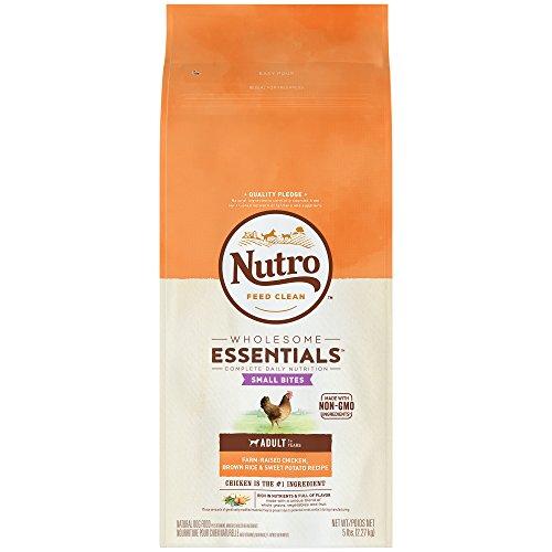 Nutro Wholesome Essentials Adult Dry Dog Food Small Bites Farm-Raised Chicken, Brown Rice & Sweet Potato Recipe,  5 Lb. Bag