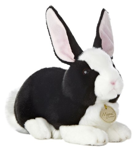 Aurora World Miyoni Dutch Rabbit Black and White 10