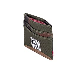 Herschel Supply Co. Men\'s Charlie Card Holder, Woodland Camo, One Size