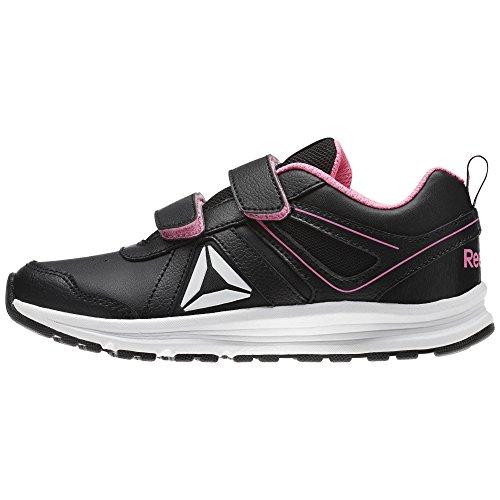 Reebok Almotio 3.0 2v, Zapatillas de Running Para Niñas Negro (Black/Pink Zing/White 000)