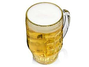 Bormioli Rocco Malles Taza de Cerveza 660ml, con la Marca de Llenado a los 500ml, 6 Vidrio