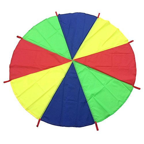 AZlife 6.6 Foot Play Parachute with 8 Handles, Best Gift for Kids Play Group Games ! (Gifts For Large Groups)