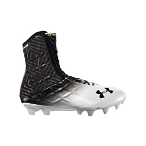Men's Under Armour Highlight MC Football Cleat Black/White Size 10