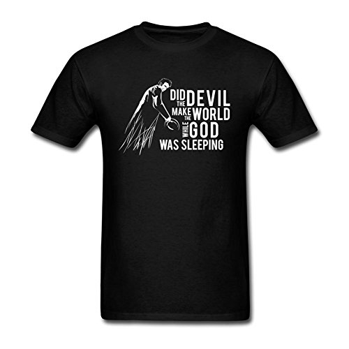 LSLEEVE Men's 100% Cotton Tom Waits T-shirts Black L