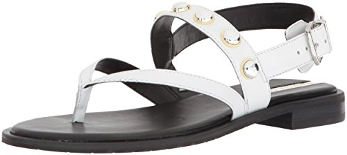 Kenneth Cole New York WoMen Tama Stud Thong Backstrap Flat Sandal White