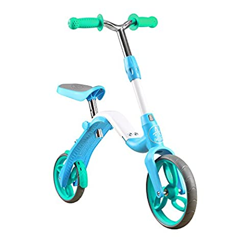 Aaest 2-in-1 Kids balance bike Kick Scooter Push Bike No Pedals for 95-120cm Height 3 4 5 Years Boys & (1 2 Inch Kids Pedals)