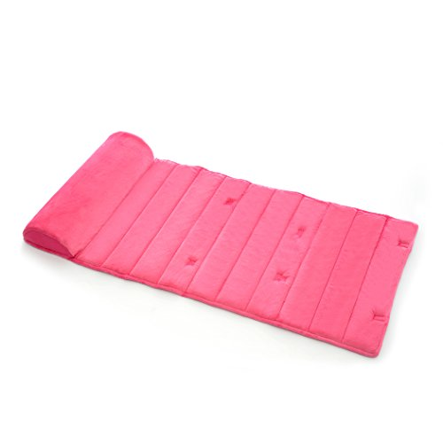 My First Nap Mat, Memory Foam Nap Mat Pad, Attached Removable Pillow, Pink ()