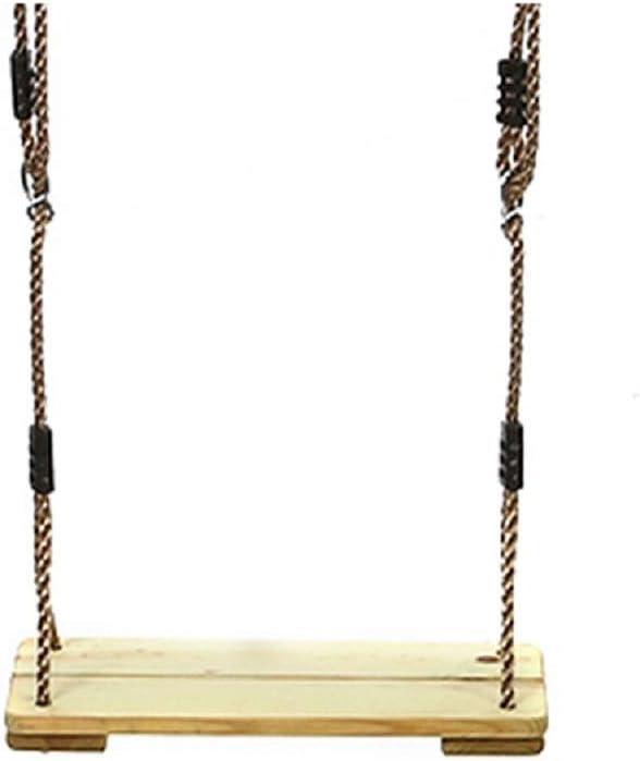 Rnwen Swing Set Wood Children Swing Seat Tree Indoor Swing Kit Easy Installation Swings (Color : Wood, Size : 45x19x3cm)