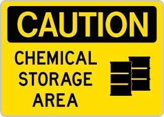 Warning Chemical store safety sign