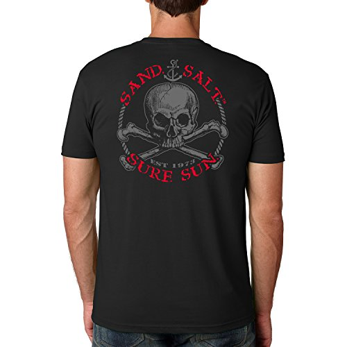 - SAND.SALT.SURF.SUN. Skull Cotton Crew Short Sleeve Shirt XXX-Large Black