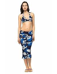 Private Island Hawaii UV Women Rash Guard Beach Capri Pants